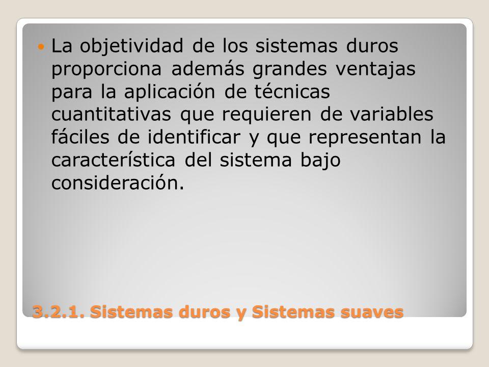 3.2.1. Sistemas duros y Sistemas suaves
