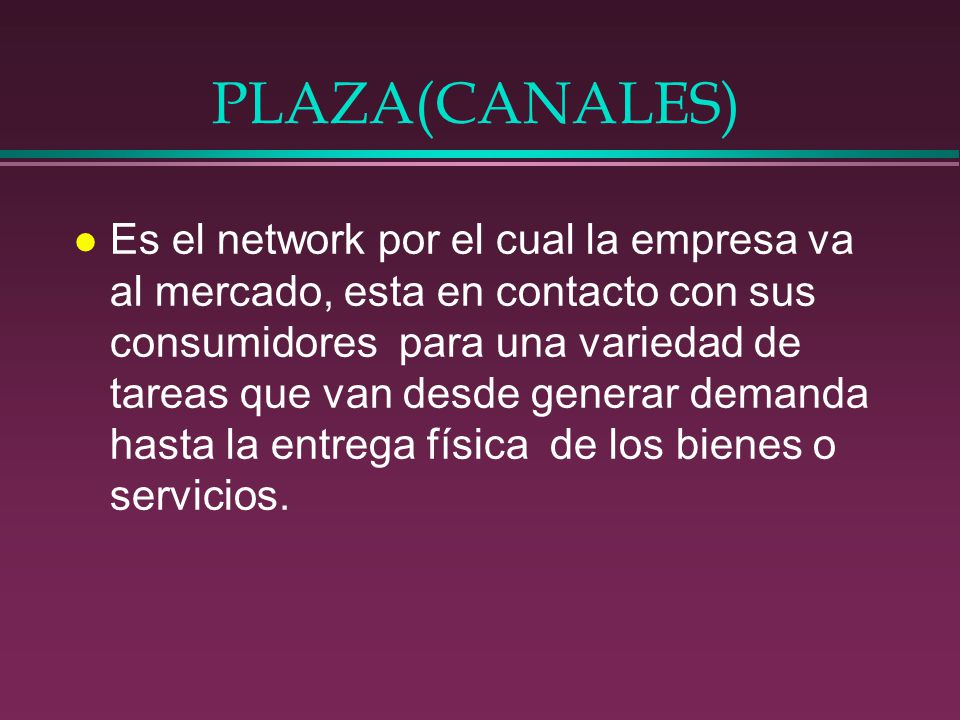 PLAZA(CANALES)