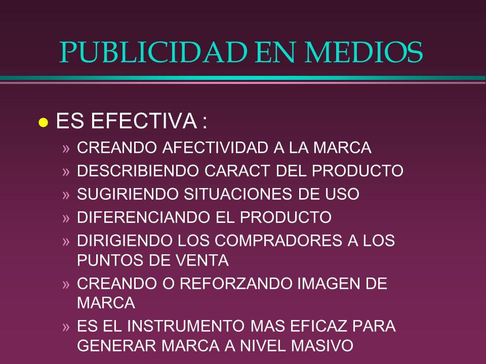 PUBLICIDAD EN MEDIOS ES EFECTIVA : CREANDO AFECTIVIDAD A LA MARCA
