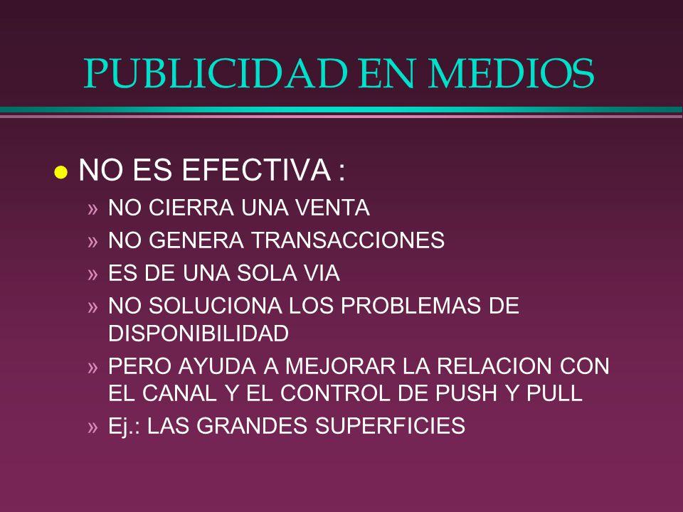 PUBLICIDAD EN MEDIOS NO ES EFECTIVA : NO CIERRA UNA VENTA