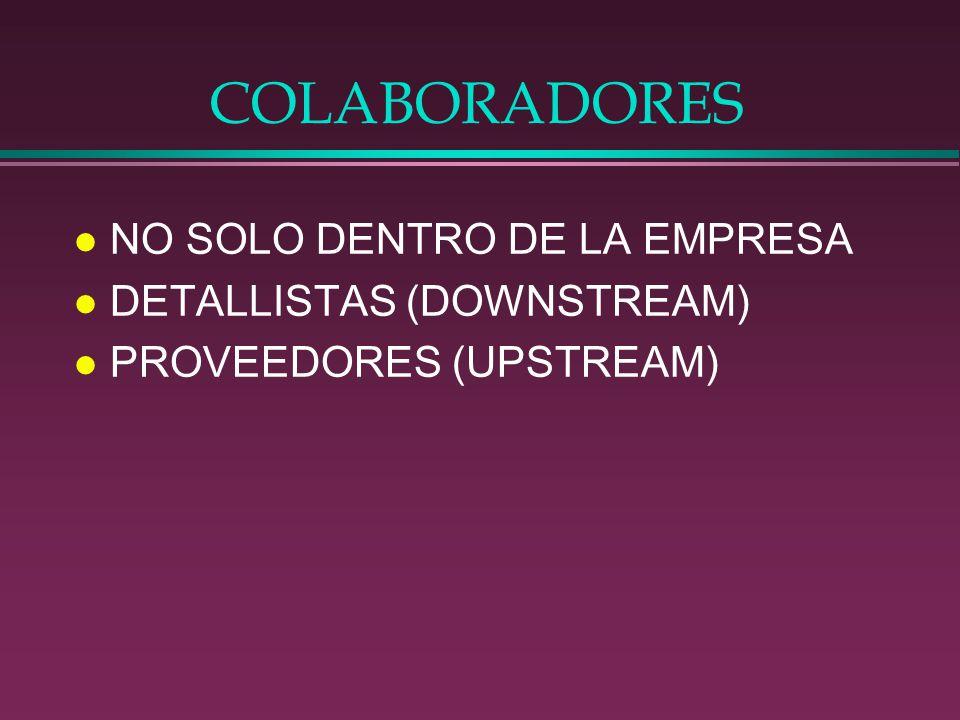 COLABORADORES NO SOLO DENTRO DE LA EMPRESA DETALLISTAS (DOWNSTREAM)