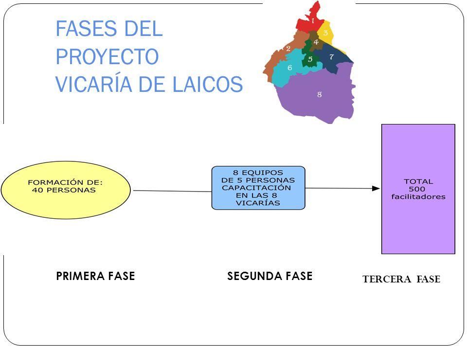 FASES DEL PROYECTO VICARÍA DE LAICOS