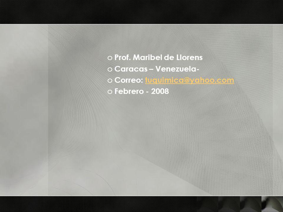 Prof. Maribel de Llorens