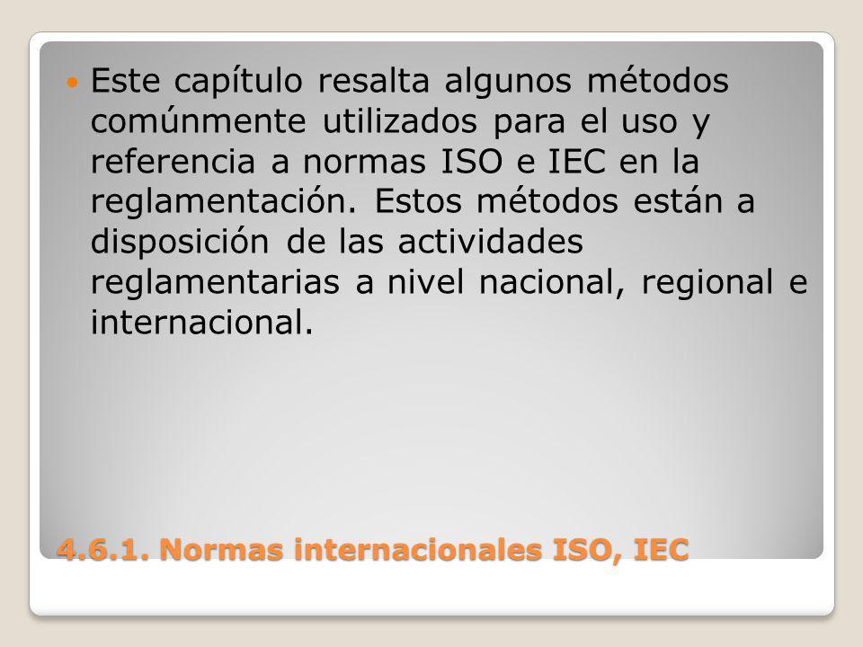 4.6.1. Normas internacionales ISO, IEC