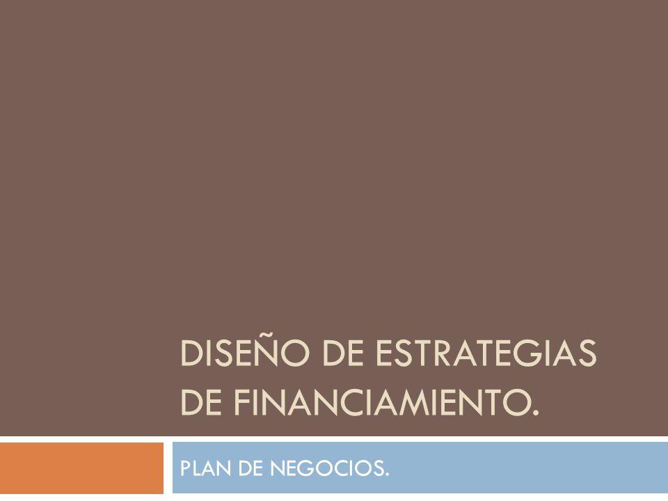 DISEÑO DE ESTRATEGIAS DE FINANCIAMIENTO.