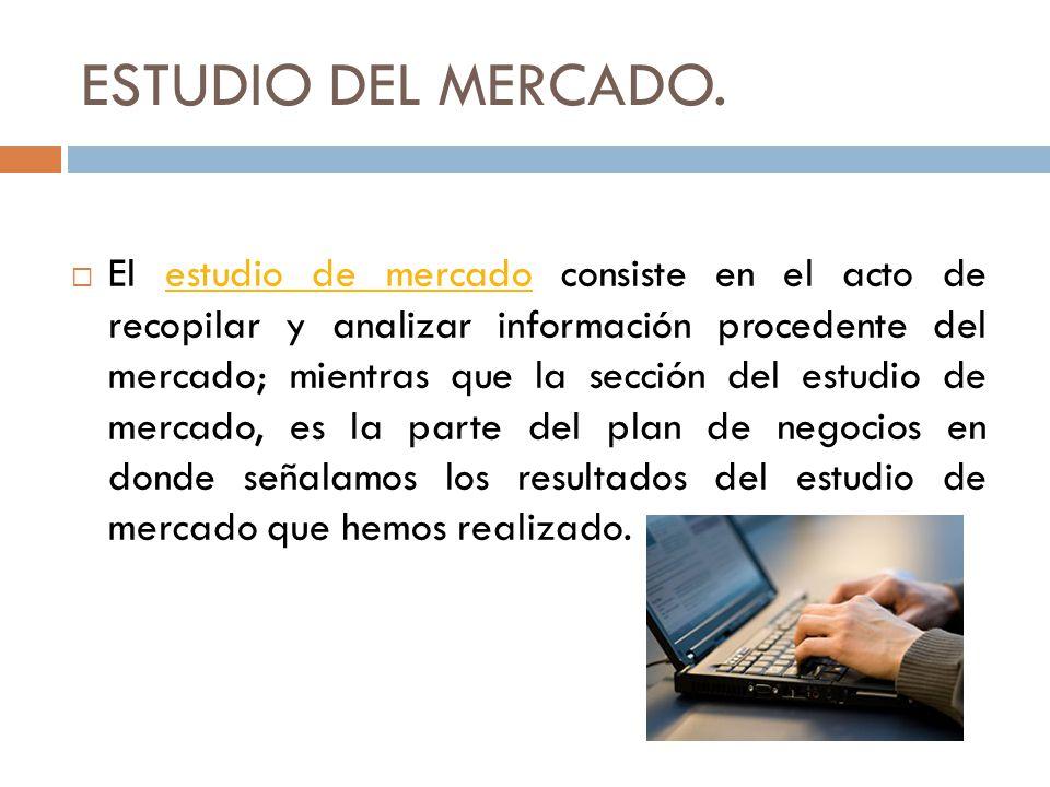 ESTUDIO DEL MERCADO.