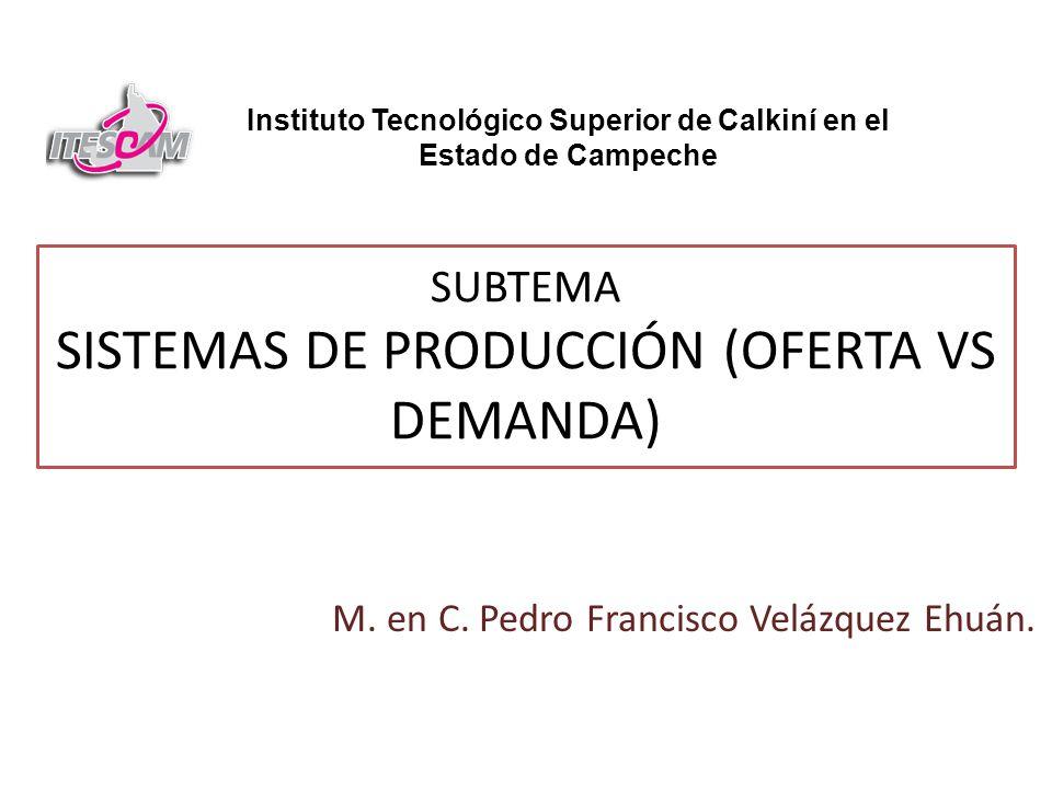 SUBTEMA SISTEMAS DE PRODUCCIÓN (OFERTA VS DEMANDA)