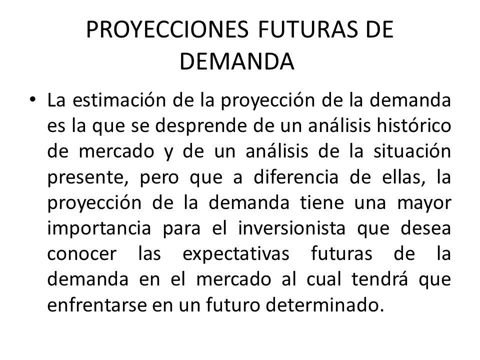 PROYECCIONES FUTURAS DE DEMANDA