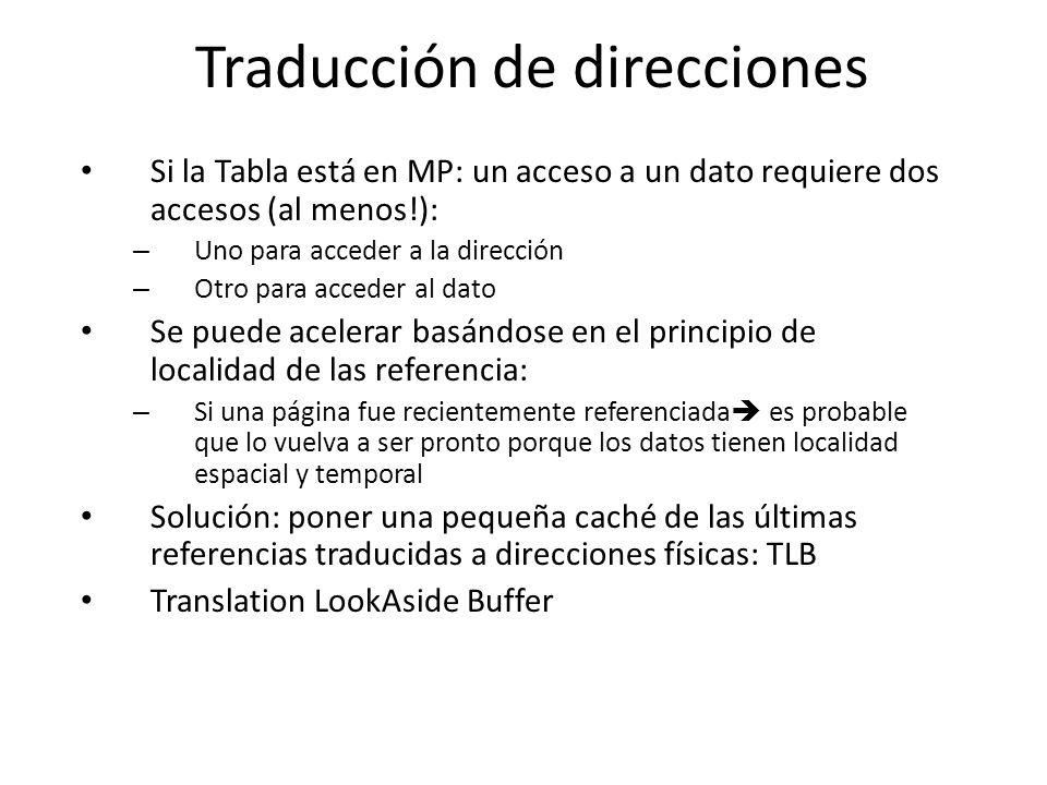 Traducción de direcciones