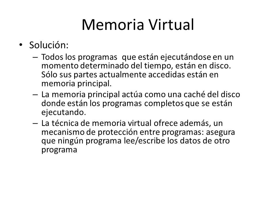 Memoria Virtual Solución: