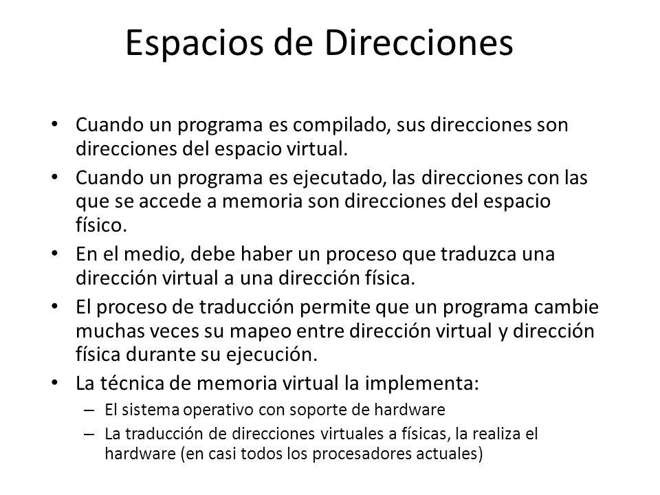 Espacios de Direcciones