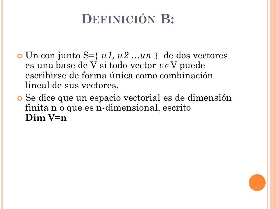 Definición B: