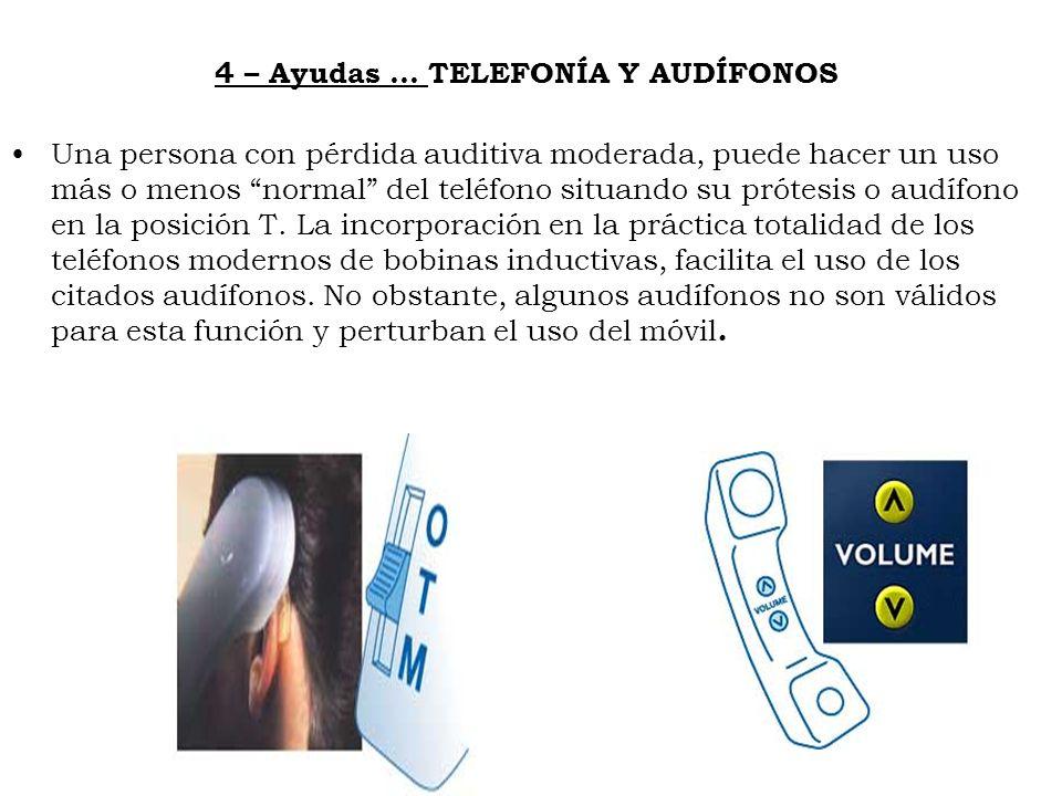 4 – Ayudas … TELEFONÍA Y AUDÍFONOS