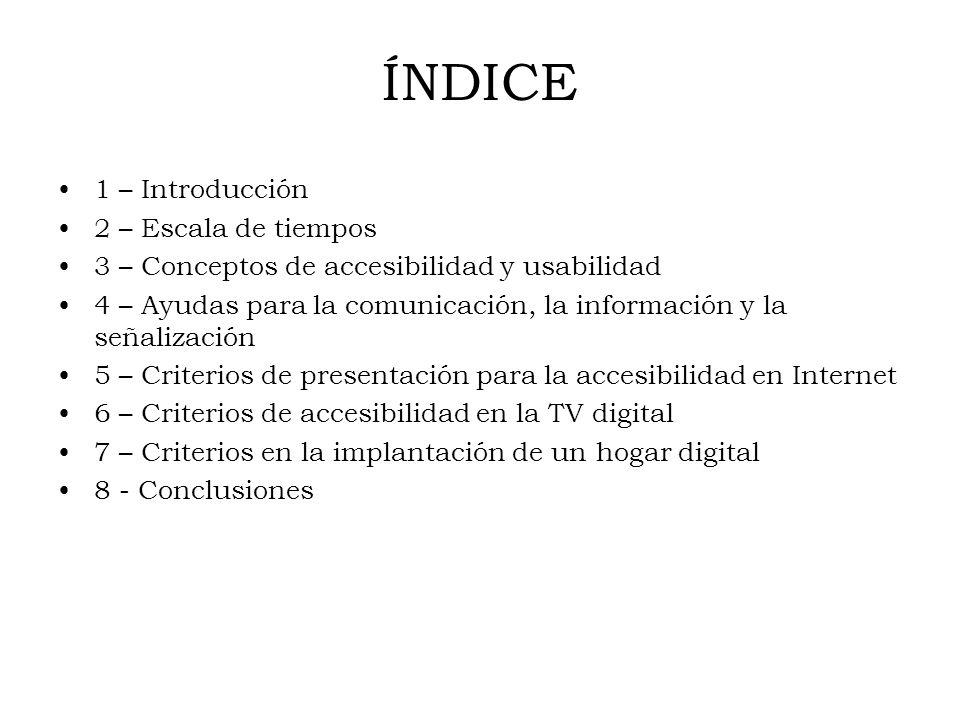 ÍNDICE 1 – Introducción 2 – Escala de tiempos