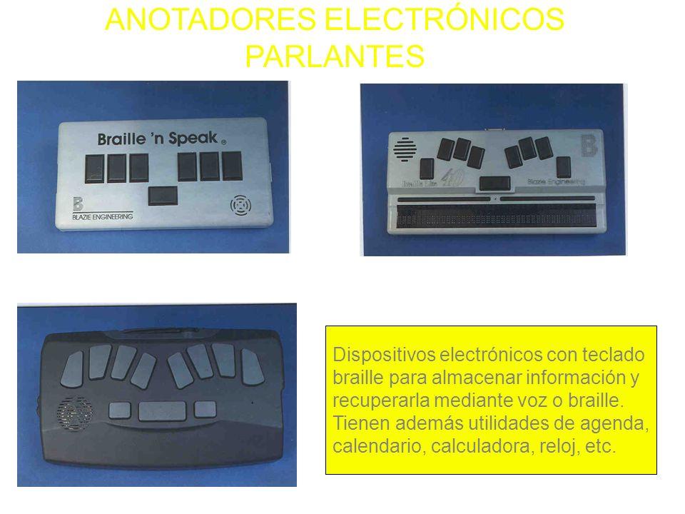 ANOTADORES ELECTRÓNICOS PARLANTES