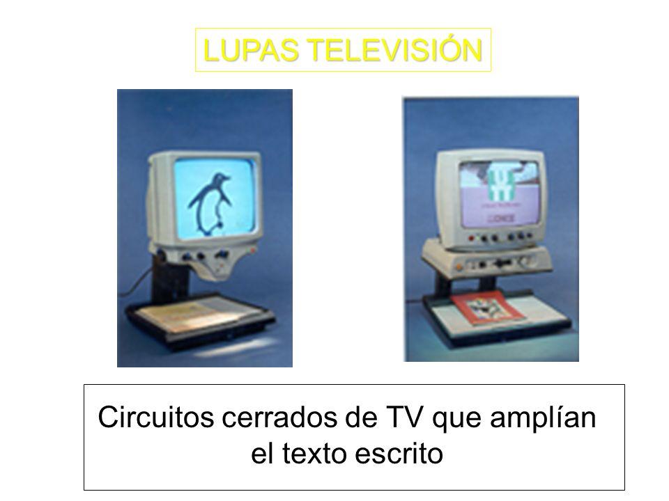 Circuitos cerrados de TV que amplían el texto escrito