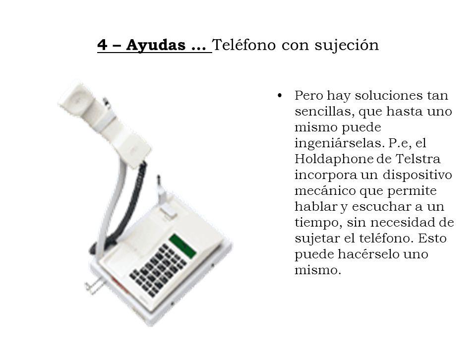 4 – Ayudas … Teléfono con sujeción