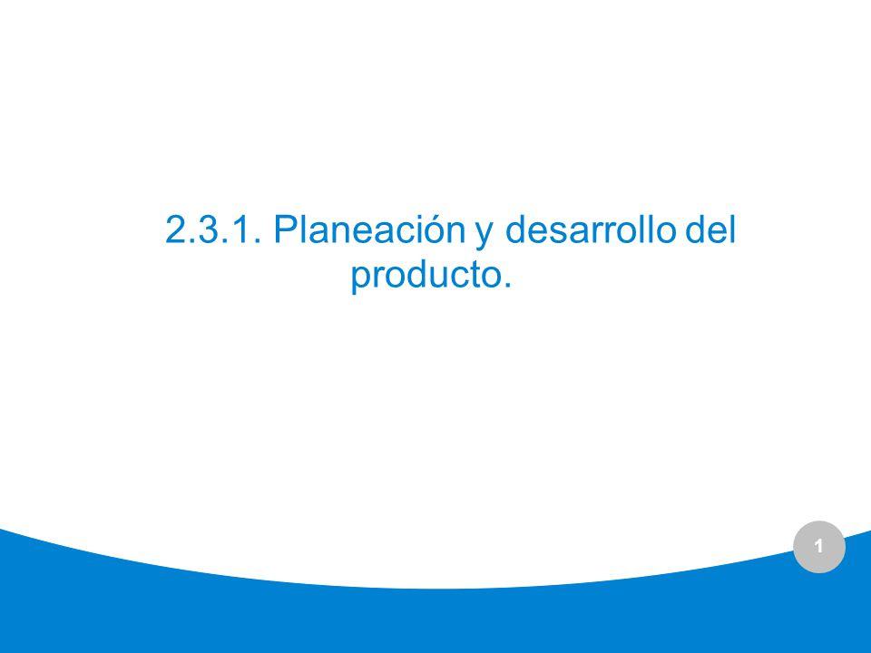 2.3.1. Planeación y desarrollo del producto.