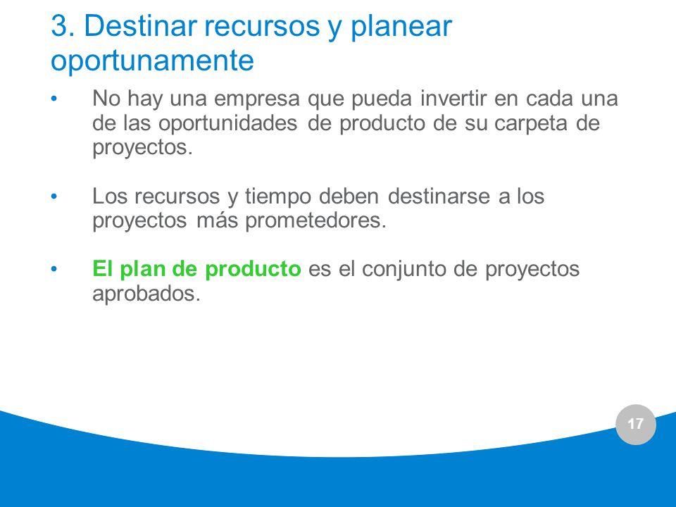 3. Destinar recursos y planear oportunamente
