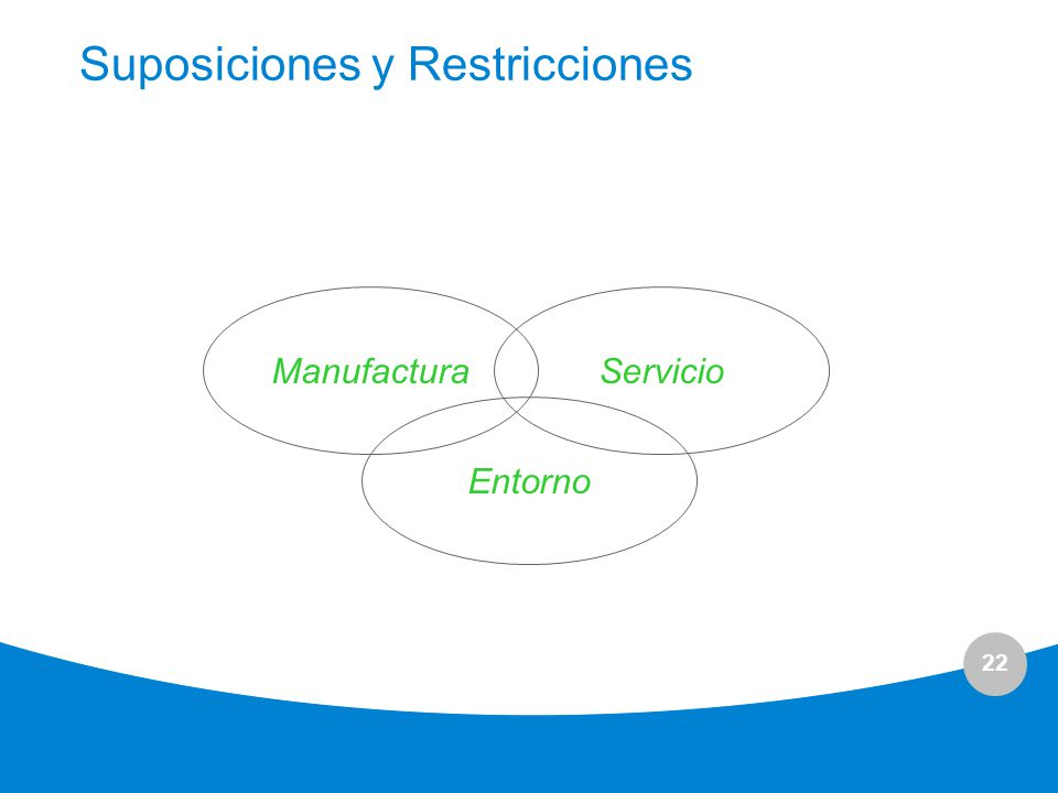 Suposiciones y Restricciones