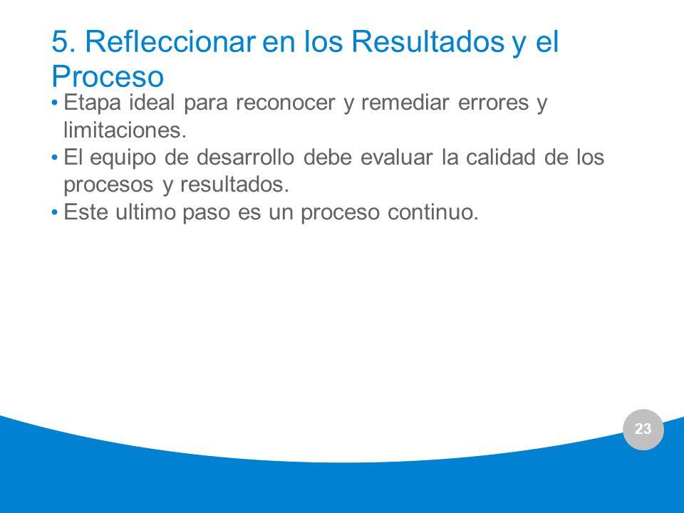 5. Refleccionar en los Resultados y el Proceso