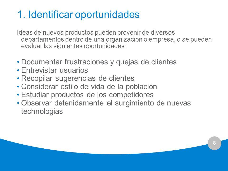 1. Identificar oportunidades