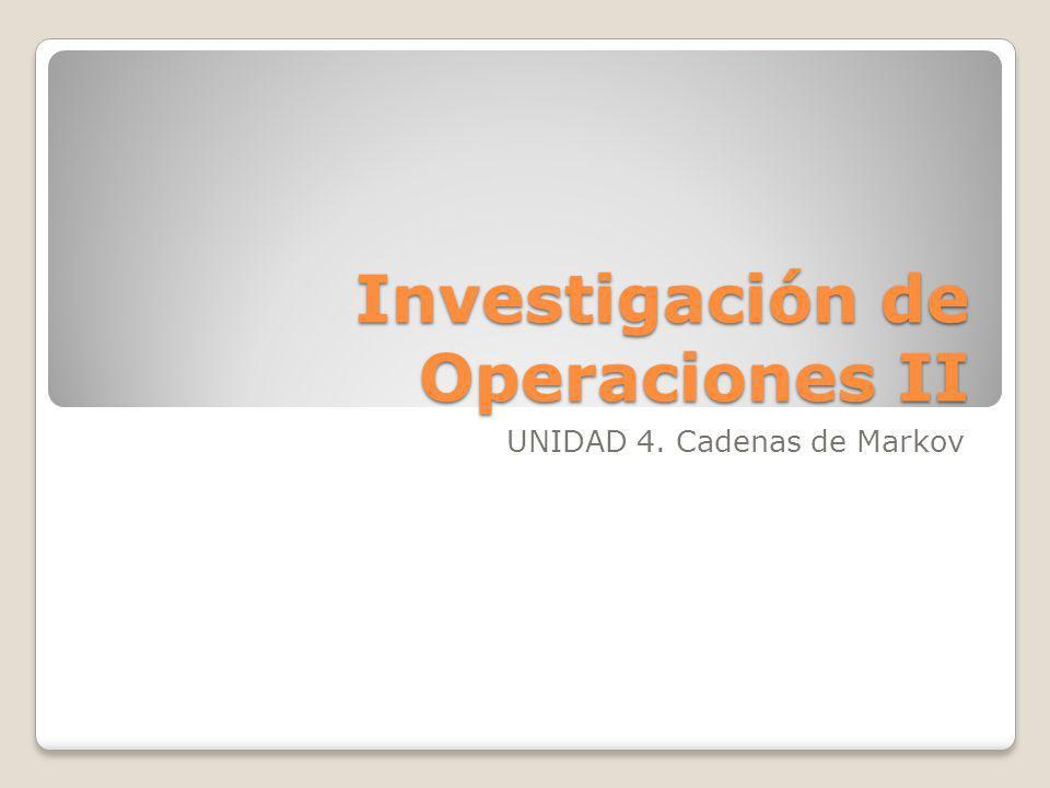 Investigación de Operaciones II