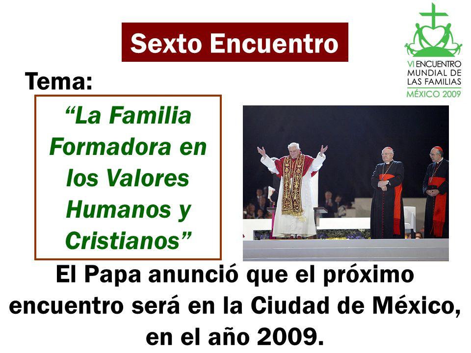 La Familia Formadora en los Valores Humanos y Cristianos