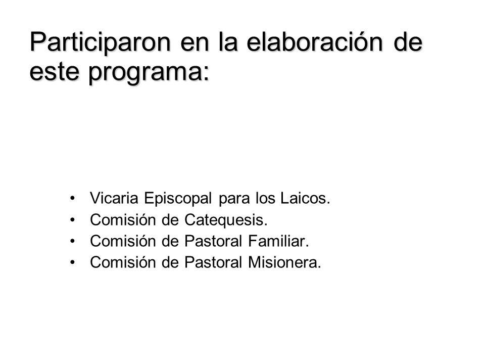 Participaron en la elaboración de este programa: