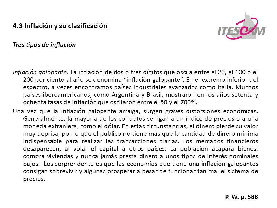 4.3 Inflación y su clasificación