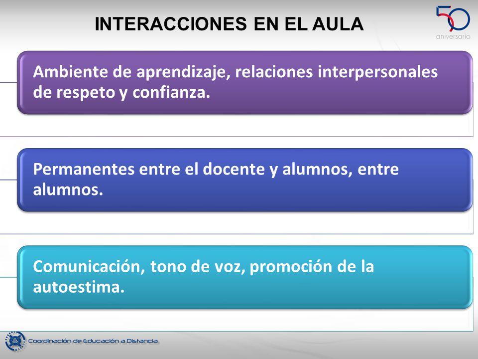 INTERACCIONES EN EL AULA