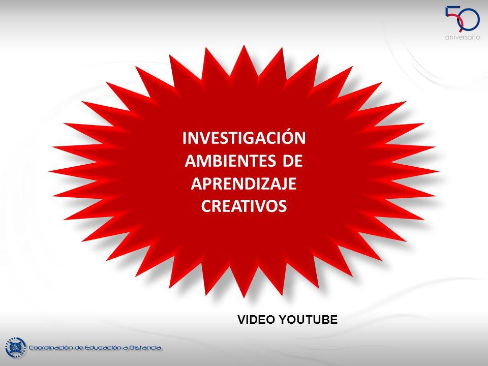 INVESTIGACIÓN AMBIENTES DE APRENDIZAJE CREATIVOS