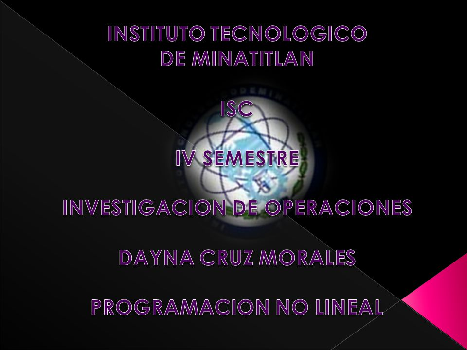 INSTITUTO TECNOLOGICO DE MINATITLAN ISC IV SEMESTRE