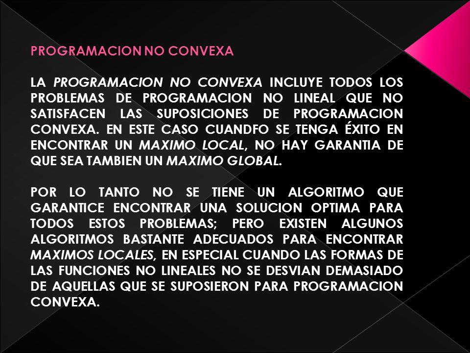 PROGRAMACION NO CONVEXA