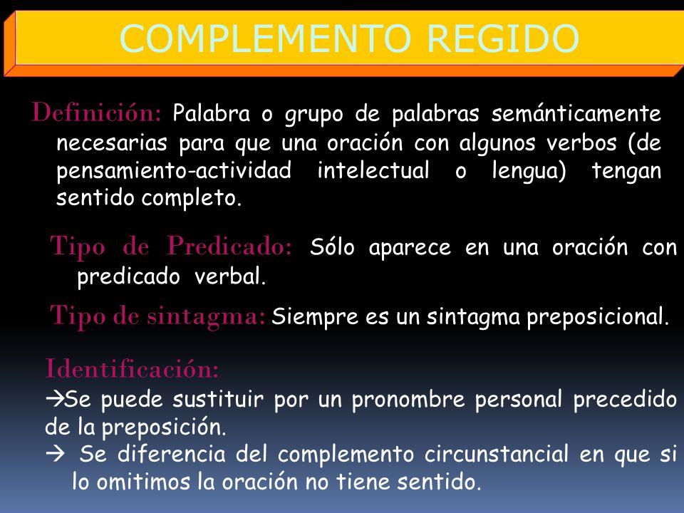 COMPLEMENTO REGIDO