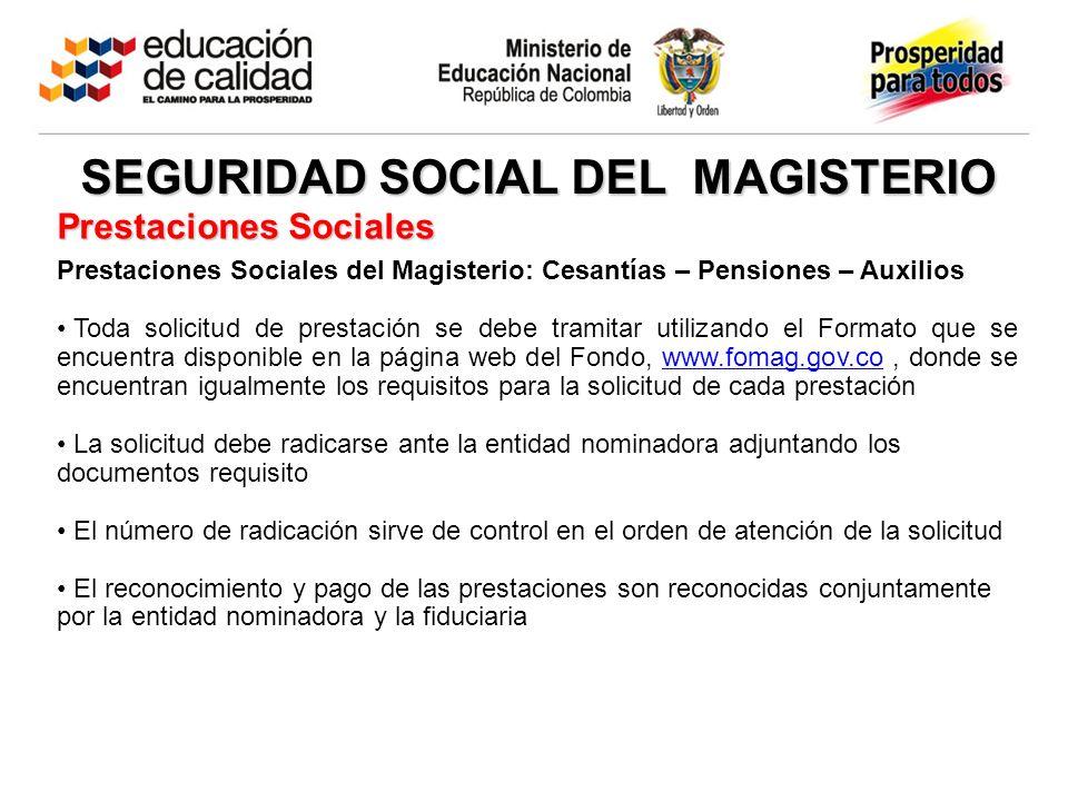 SEGURIDAD SOCIAL DEL MAGISTERIO