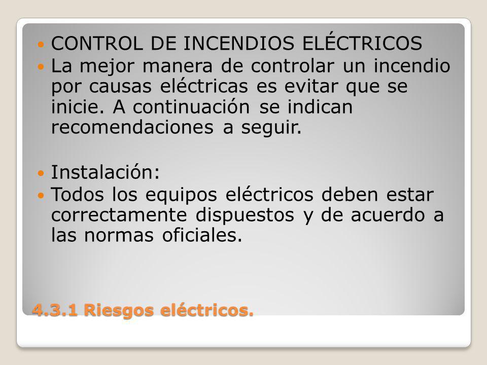 CONTROL DE INCENDIOS ELÉCTRICOS