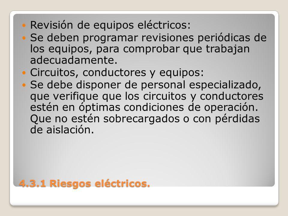Revisión de equipos eléctricos: