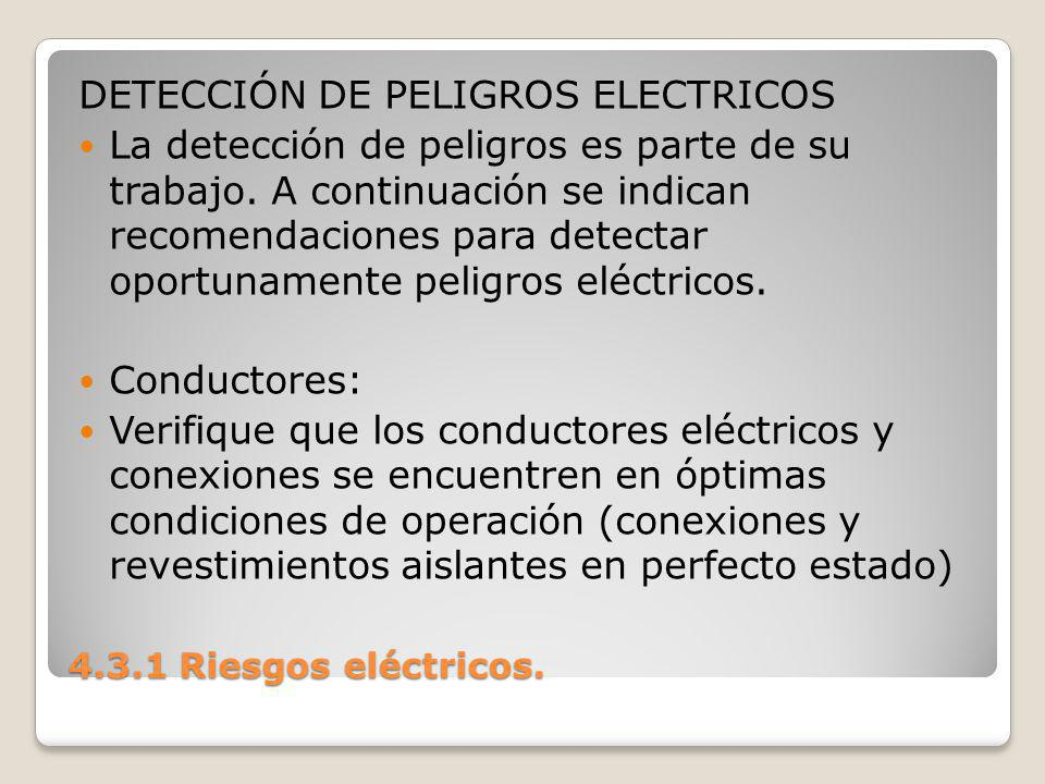 DETECCIÓN DE PELIGROS ELECTRICOS