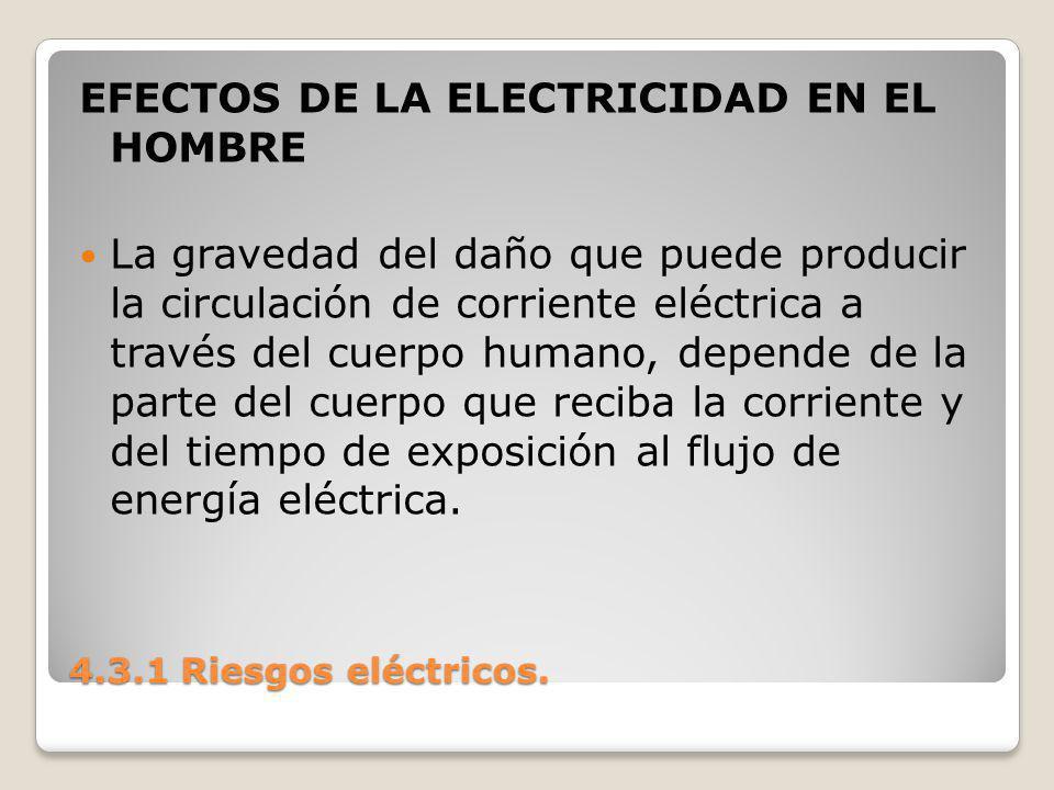 EFECTOS DE LA ELECTRICIDAD EN EL HOMBRE