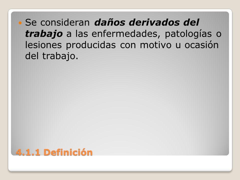 Se consideran daños derivados del trabajo a las enfermedades, patologías o lesiones producidas con motivo u ocasión del trabajo.