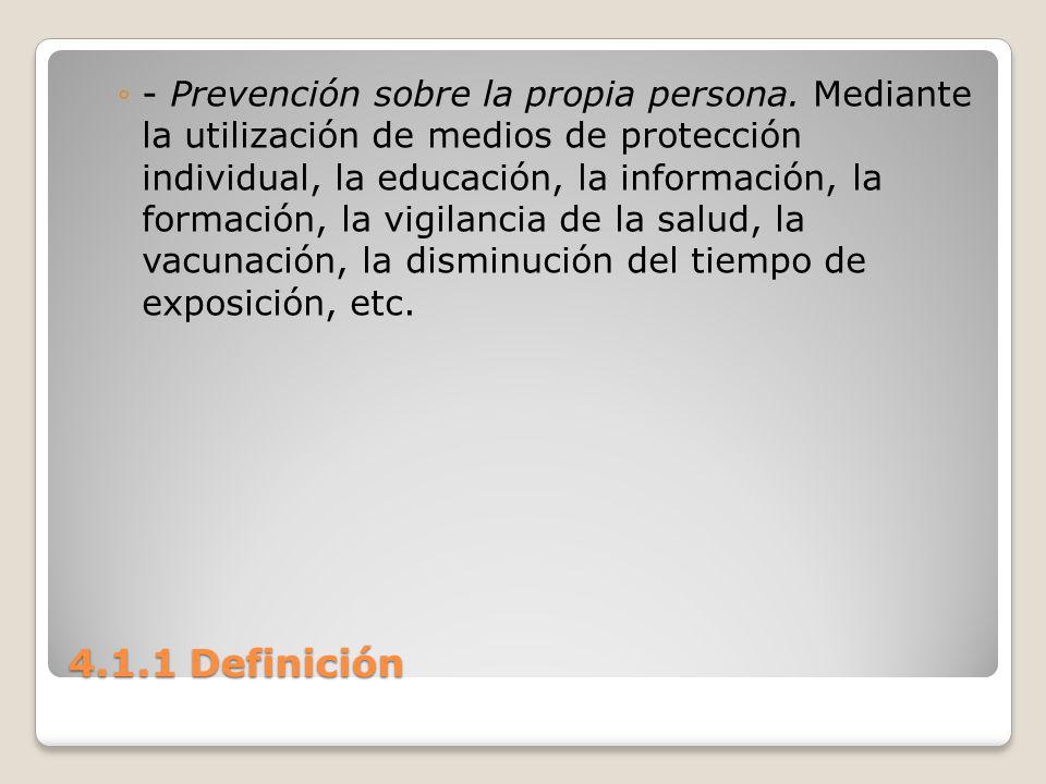- Prevención sobre la propia persona