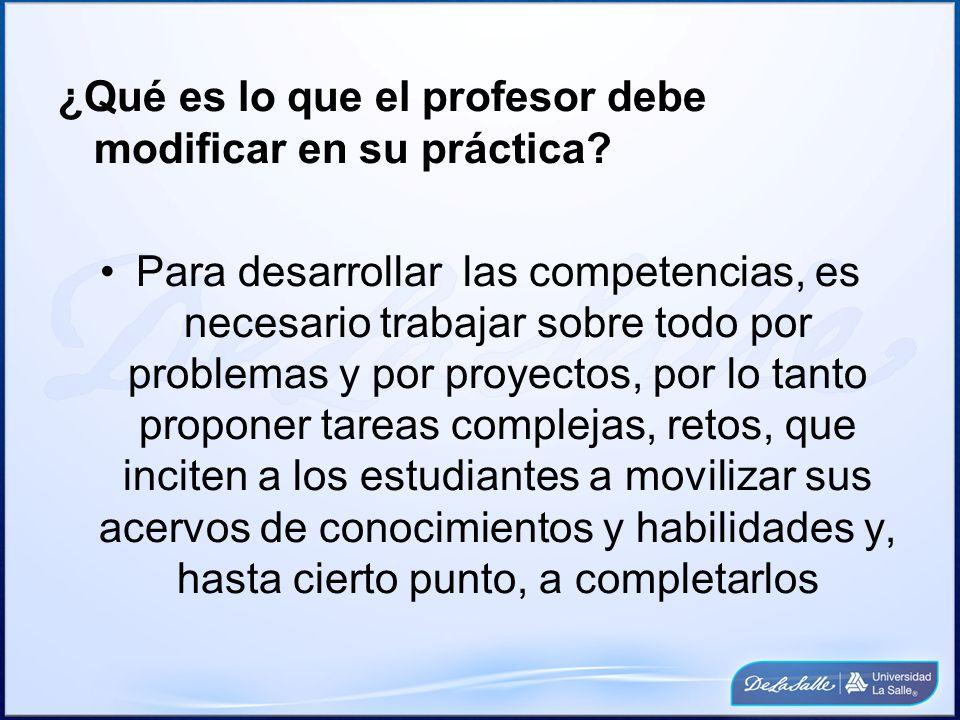 ¿Qué es lo que el profesor debe modificar en su práctica