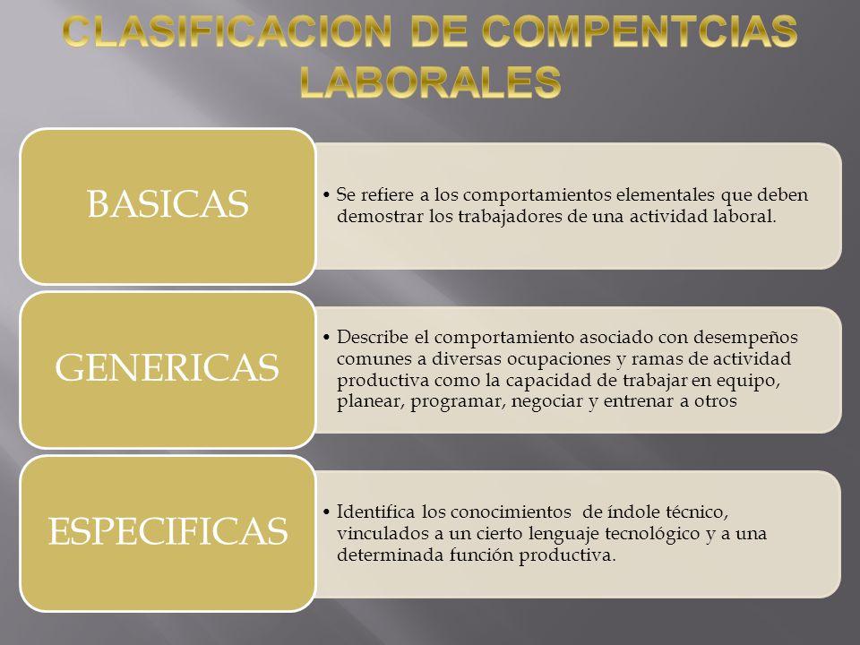 CLASIFICACION DE COMPENTCIAS