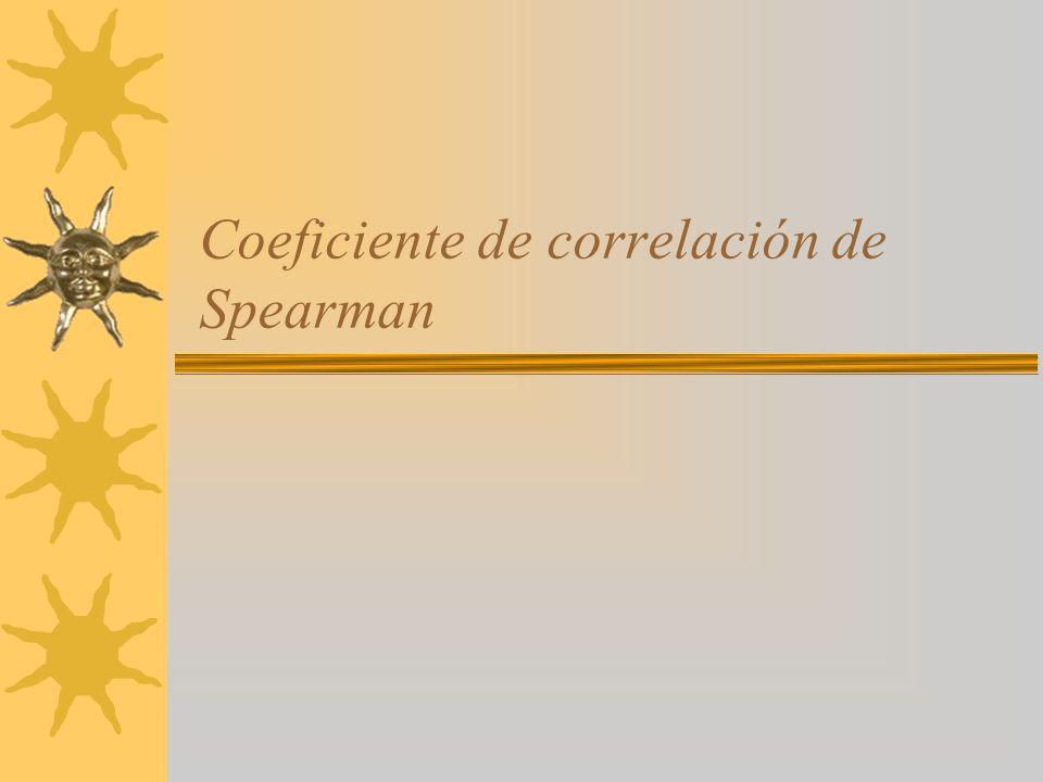 Coeficiente de correlación de Spearman