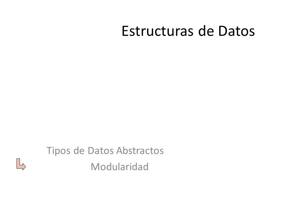 Tipos de Datos Abstractos Modularidad
