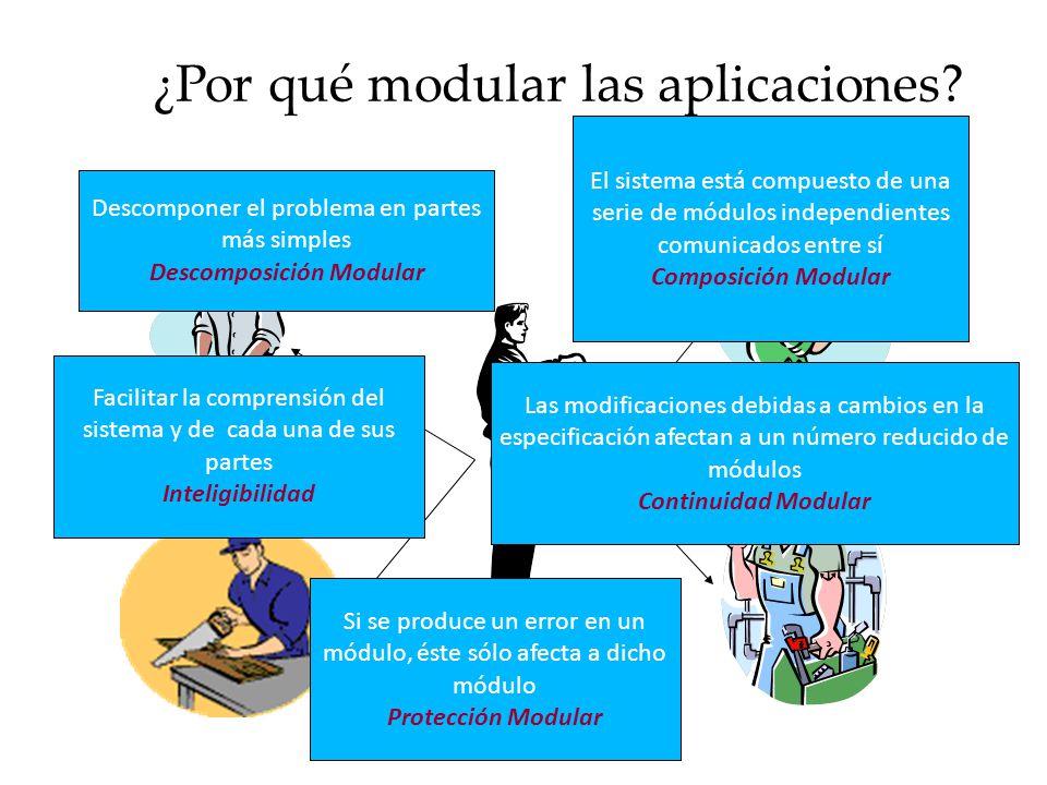 ¿Por qué modular las aplicaciones