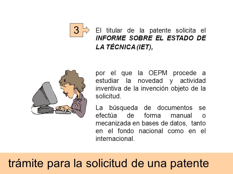 trámite para la solicitud de una patente