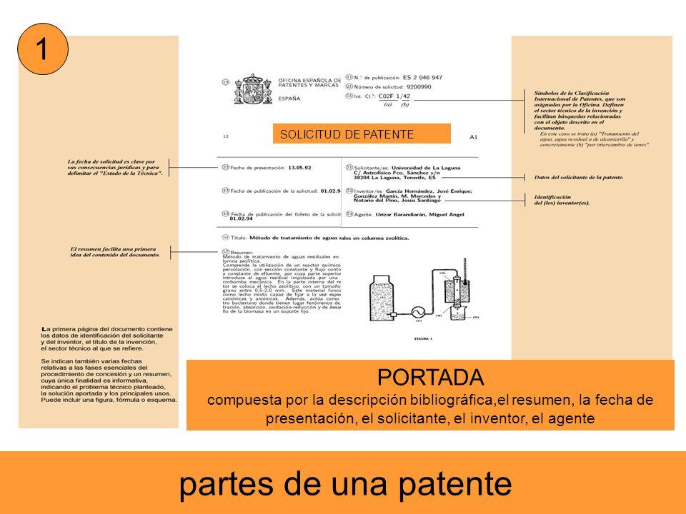 partes de una patente 1 PORTADA