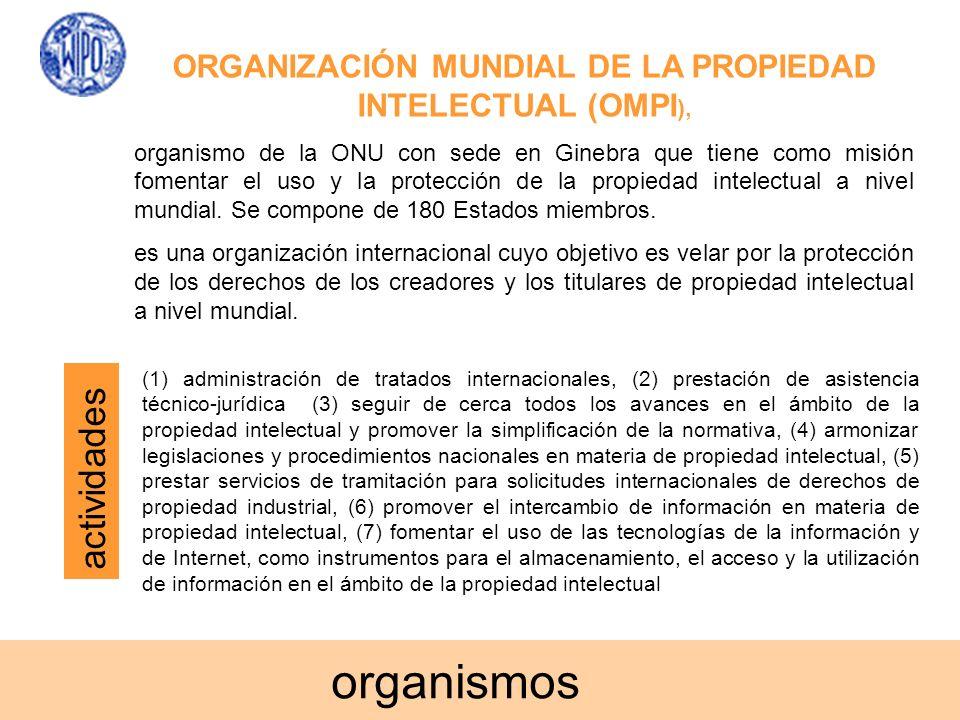 ORGANIZACIÓN MUNDIAL DE LA PROPIEDAD INTELECTUAL (OMPI),